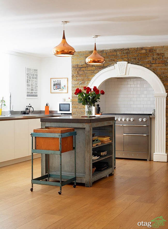 Kitchen Islands with Open Shelving (17)