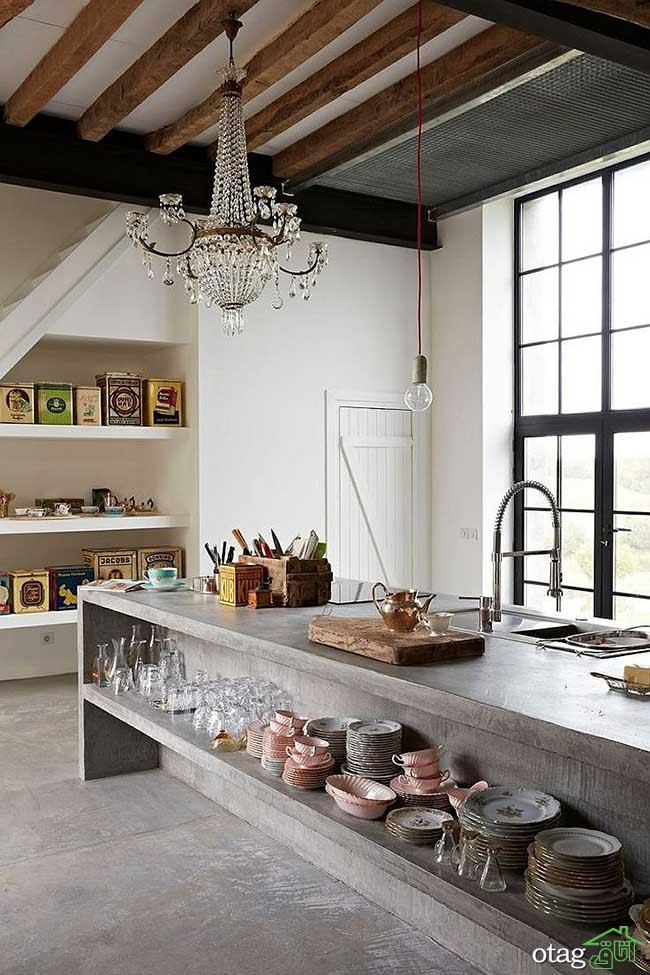 Kitchen Islands with Open Shelving (18)