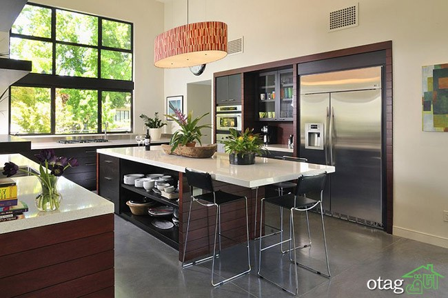 Kitchen Islands with Open Shelving (19)