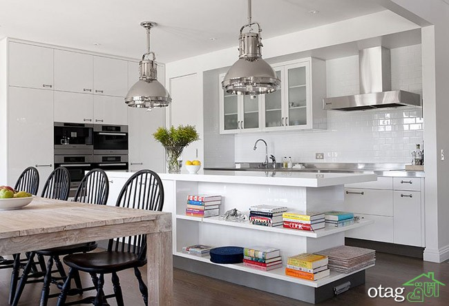 Kitchen Islands with Open Shelving (2)