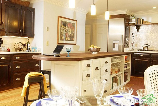 Kitchen Islands with Open Shelving (21)