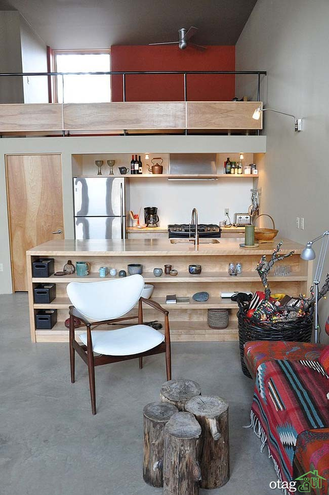 Kitchen Islands with Open Shelving (23)