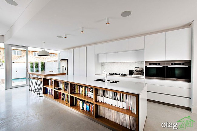 Kitchen Islands with Open Shelving (5)
