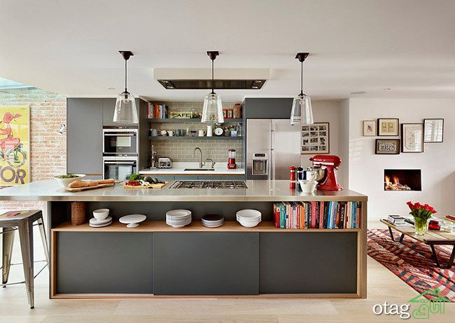 Kitchen Islands with Open Shelving (6)