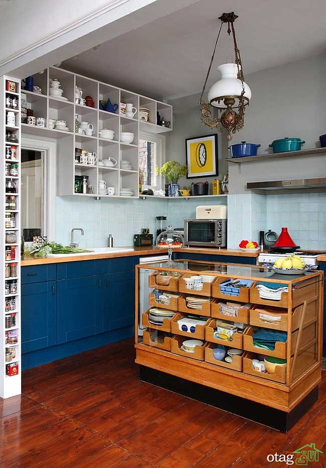 Kitchen Islands with Open Shelving (7)