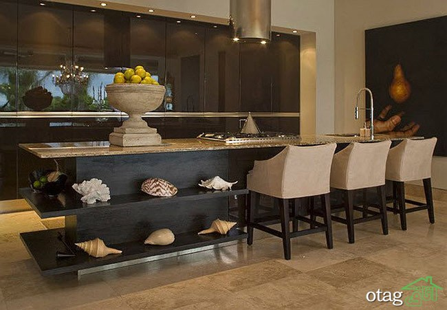 Kitchen Islands with Open Shelving (9)