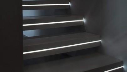 مدل های جدید نورپردازی و روشنایی راه پله با چراغ ال ایی دی