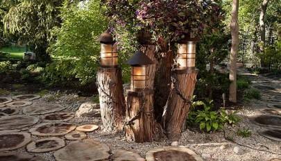 مدل چراغ و لامپ حیاط و محیط های بیرونی منزل به شکل فانوس
