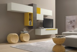 مدل میز تلویزیون بهمراه مدل کمد دیواری مدرن و زیبا / عکس