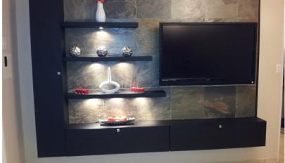 ایده های جدید قفسه و شلف دیواری مناسب اتاق نشیمن منزل