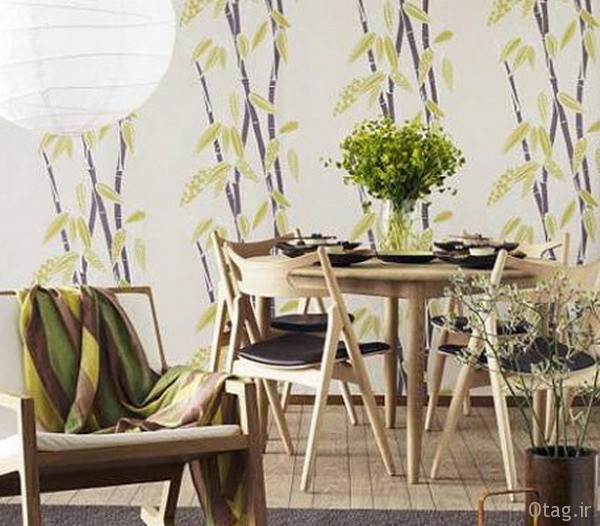 Modern-Bamboo-Living-Room-with-Murals-Ideas
