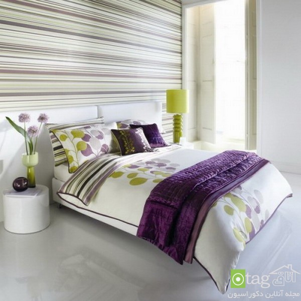 Modern-Bedroom-Design-with-Purple-Bedding-Sets