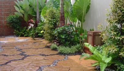 ساخت و تزیین باغچه مدرن مناسب حیاط های [ کوچک و کم جا ]