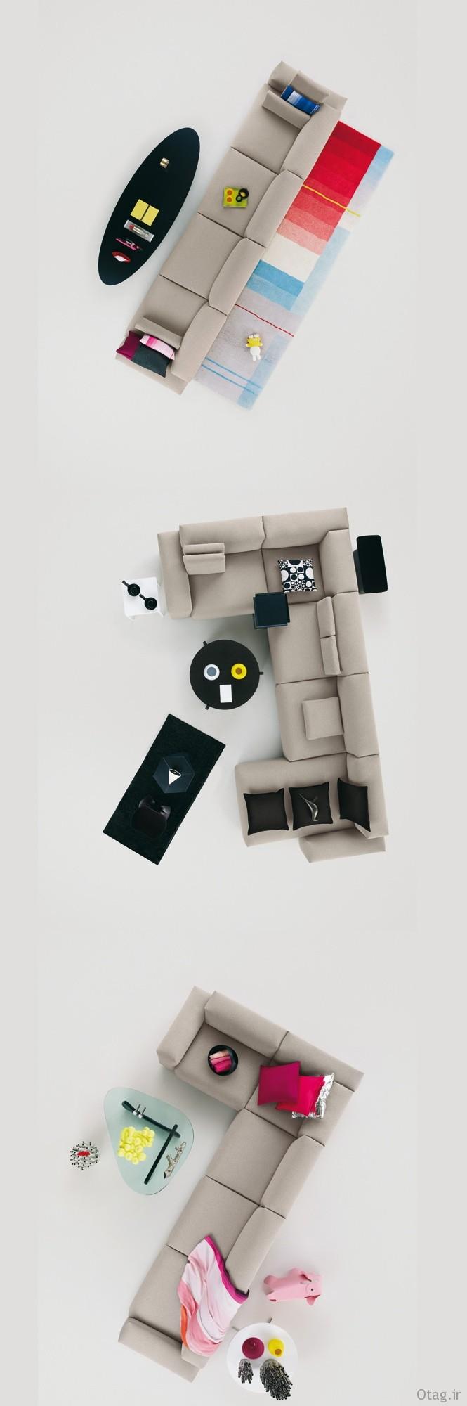 Modern-grey-modular-sofa