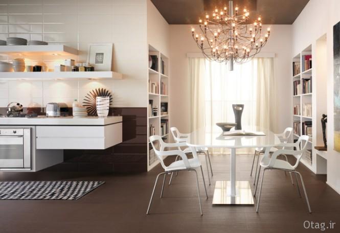 Modern-white-kitchen-chandelier-Brick-tiles-665x456