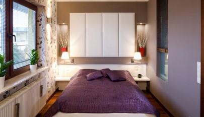 طراحی دکوراسیون اتاق خواب بسیار کوچک در واحد های آپارتمانی