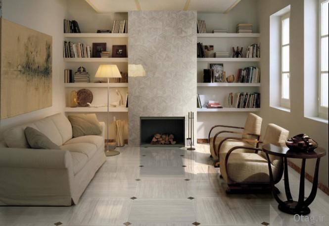 Sophisticated-livining-room-brown-white-floor-tile-665x456