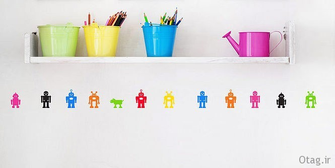 Wall-stickers-robots