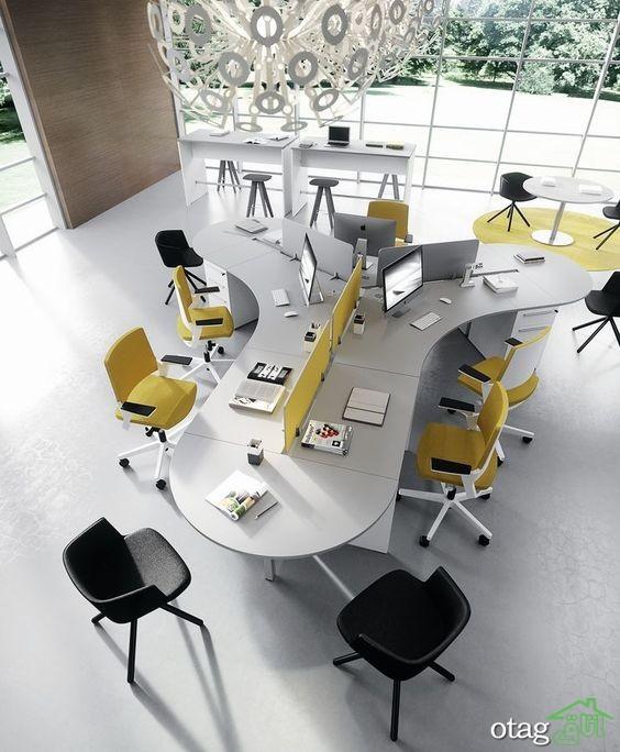 35 مدل طراحی دکوراسیون اداری [مدرن-شیک-زیبا] + 24 ست اداری زیبا