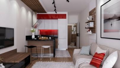 دکوراسیون دو دستگاه آپارتمان 30 متری با چیدمان کامل و زیبا