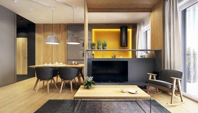 معماری آپارتمان کوچک به روشی بسیار هنرمندانه و هوشمندانه