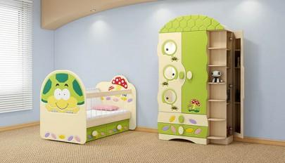عکس سرویس خواب نوزاد در طرح و رنگ های بسیار شاد و متنوع