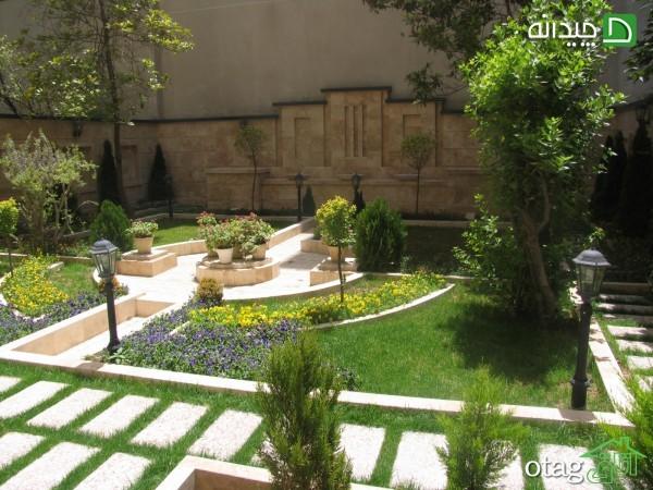 25 مدل تزیین دکوراسیون باغچه حیاط با گل و گیاهان استوایی