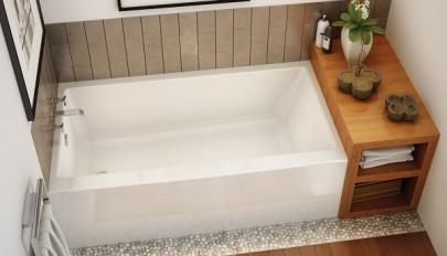 جدیدترین و زیباترین ایده های طراحی وان حمام کوچک و بزرگ