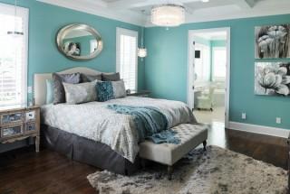 انتخاب بهترین رنگ اتاق خواب + عکس های زیبا از دیوار اتاق