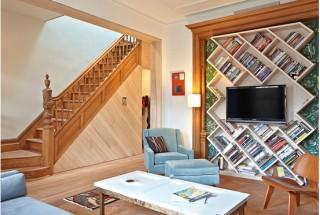 کتابخانه خانگی جدید و فانتزی مناسب خانه های کوچک / عکس