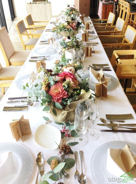 36 مدل چیدمان میز غذاخوری رستوران خلاقانه و بسیار شیک
