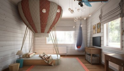 طراحی داخلی اتاق کودک با رنگ های فوق العاده شاد و روشن