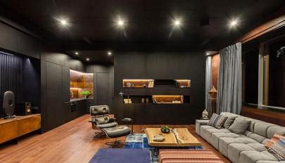 دکوراسیون داخلی تمام چوب در آپارتمانی بسیار شیک و لوکس