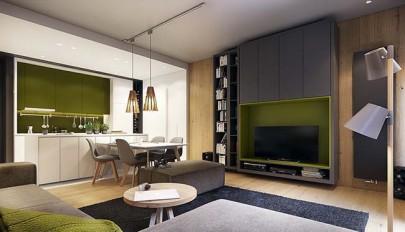 خانه شاد و پر انرژی با تم سبز و صورتی در دکوراسیون
