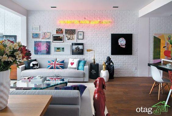 30 مدل تزیین دیوار پذیرایی و اتاق نشیمن مدرن [در سال جدید]
