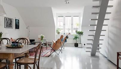 آشنایی با دکوراسیون خانه دوبلکس کوچک 62 متری با طراحی ساده