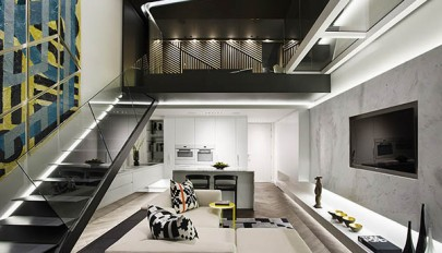 معرفی آپارتمان دوبلکس کوچک با طراحی ساده و بسیار شیک