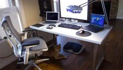 مدل میز و صندلی کامپیوتر با طراحی ارگونومیک و شیک