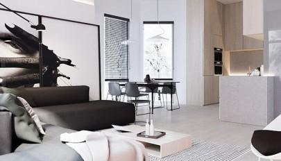 طراحی داخلی آپارتمان شیک 180 متری مناسب خانواده چهار نفره