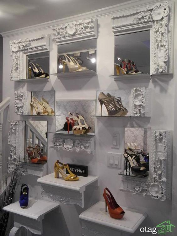 38 مدل دکوراسیون فروشگاه کفش بسیار شیک و بی نظیر[در سال 2019]