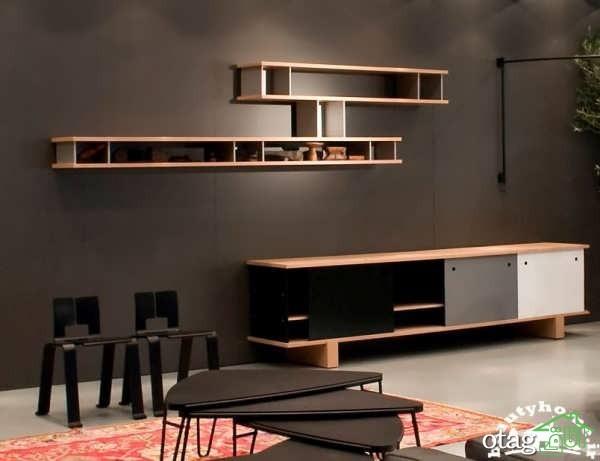 25 مدل قفسه دیواری مدرن و شیک برای کتاب و دکوراسیون منزل