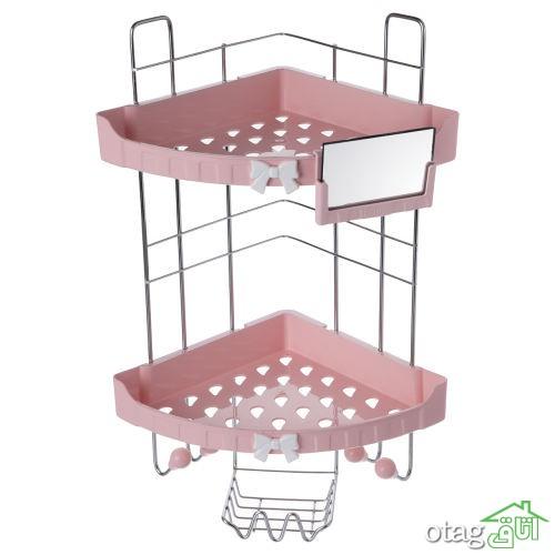 خرید 43 مدل قفسه حمام فانتزی و شیک  [پلاستیکی و فلزی ] مدرن