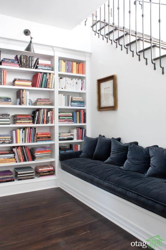 36 مدل قفسه کتاب بسیار زیبا و شیک [در سال جدید]