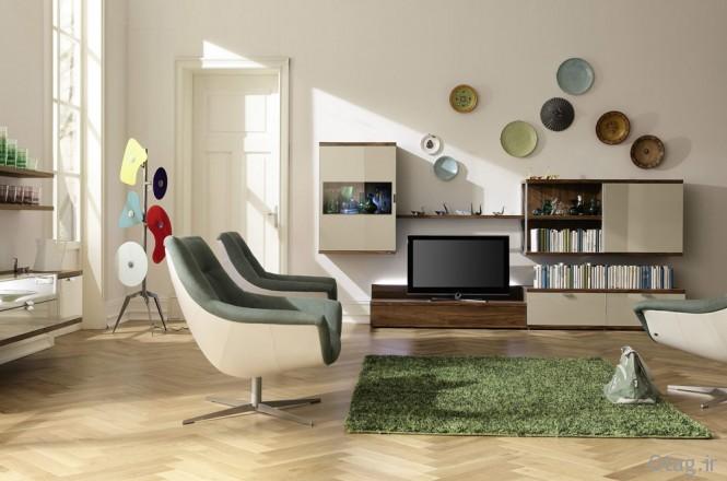 geometrical-art-enlivens-living-room-665x440