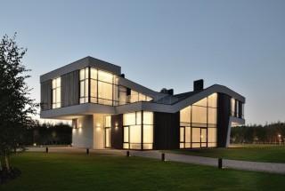 نمای خارجی ساختمان مدرن با الهام گیری از شکل مار پیتون