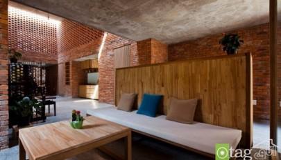 نمای داخلی و خارجی ساختمان تمام آجری جدید و منحصر بفرد
