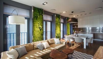 مدل باغچه دیواری در دکوراسیون داخلی منزل / باغچه عمودی