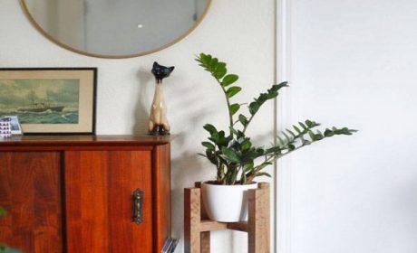60 مدل جا گلدانی ایستاده [ شلف گلدان ] جدید فلزی، چوبی و سنگی 2019