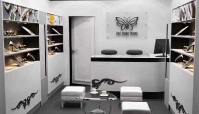 دکوراسیون مغازه جواهر فروشی شیک و لوکس / طراحی داخلی