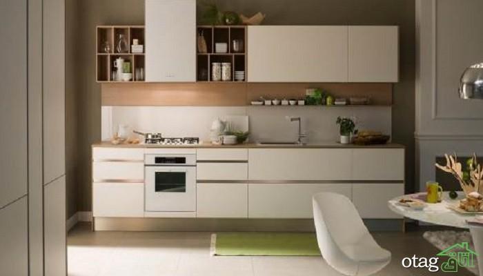 مدل کابینت آشپزخانه هایگلاس /[عکس 50 طرح] کابینت های گلاس مدرن 2019